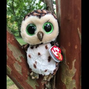 Ty Beanie Boos™ Brown Sammy Plush Glitter Owl